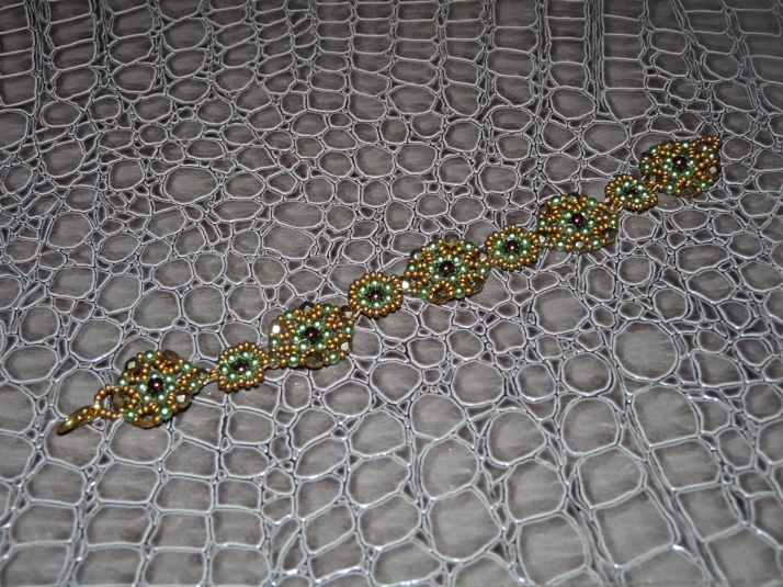 Bracelet MAYFLOWERS à fermeture mousqueton - longueur : 18,5cm