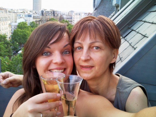 Elle et moi en Août 2009