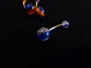 NOMBRIL : pailleté bicolore bleu foncé/ transparent : 1