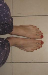 Les pieds de la gagnante !