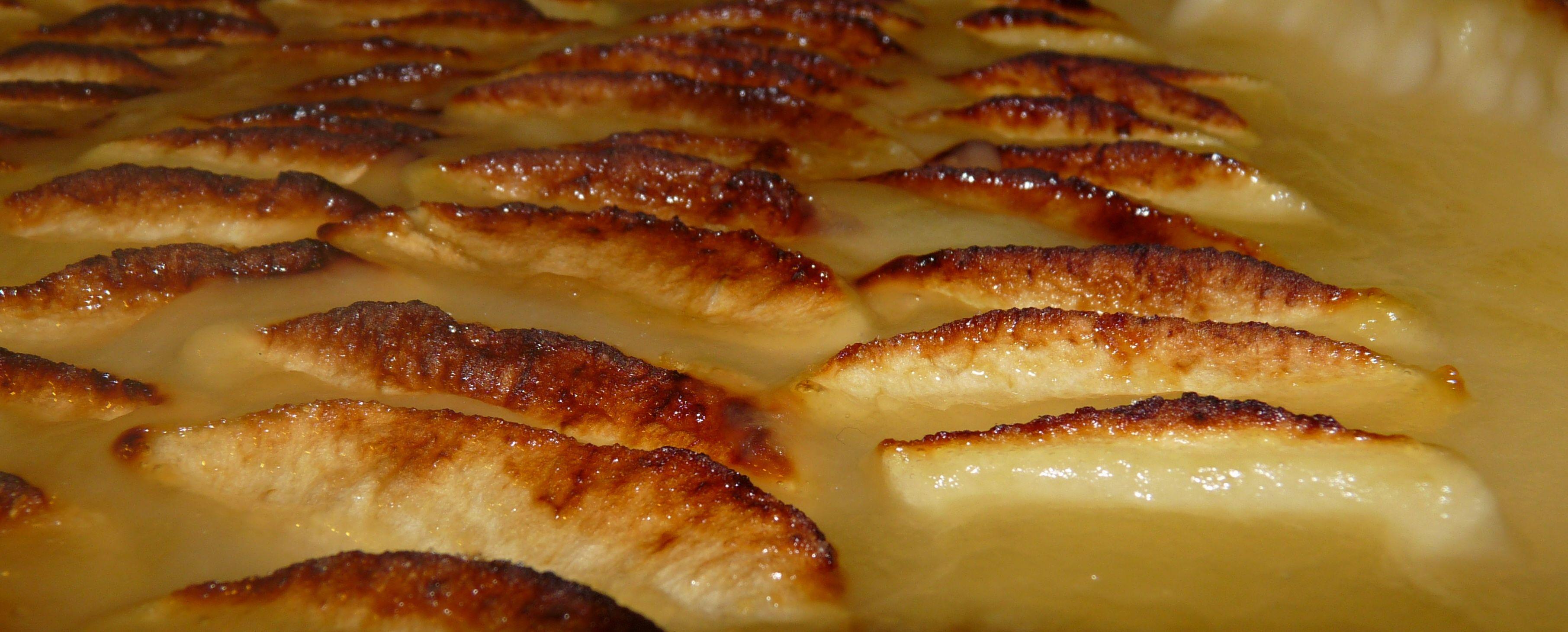 Recette facile rapide tarte pommes compotées