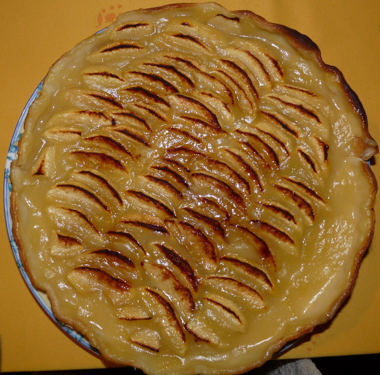 recette tarte facile rapide pommes compotée