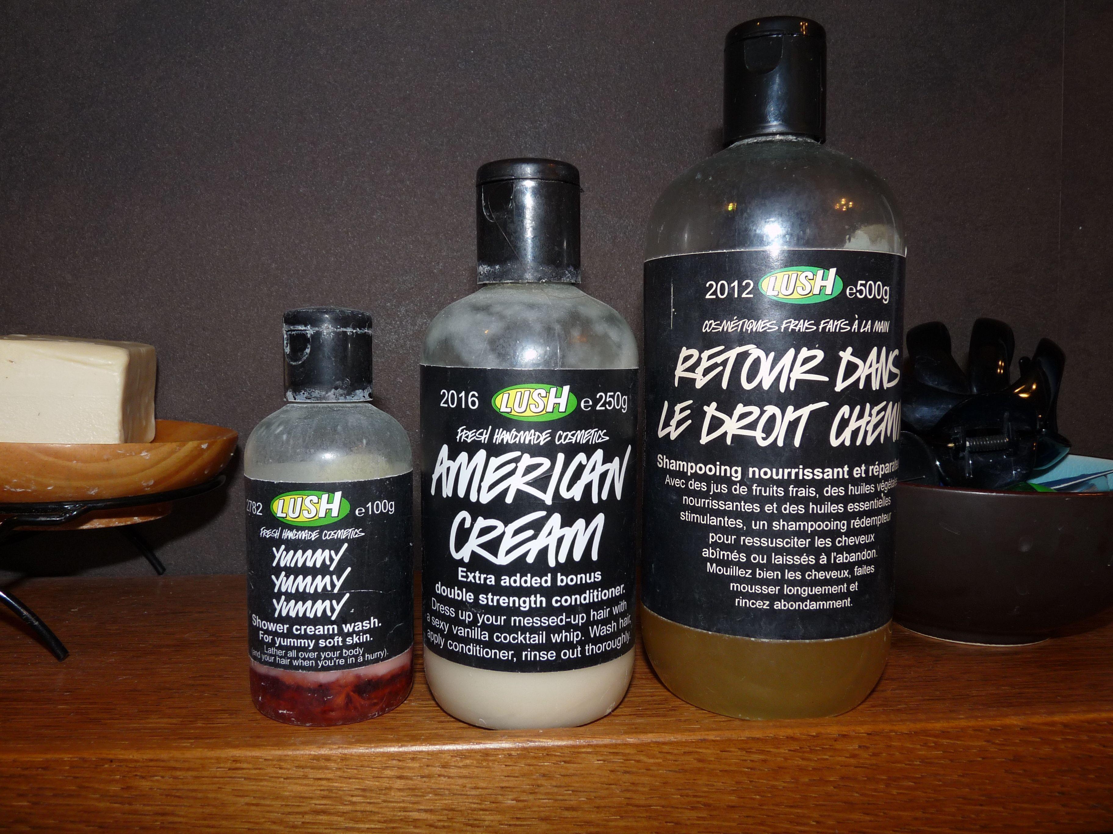 Lush shampooing liquide cheveux American cream