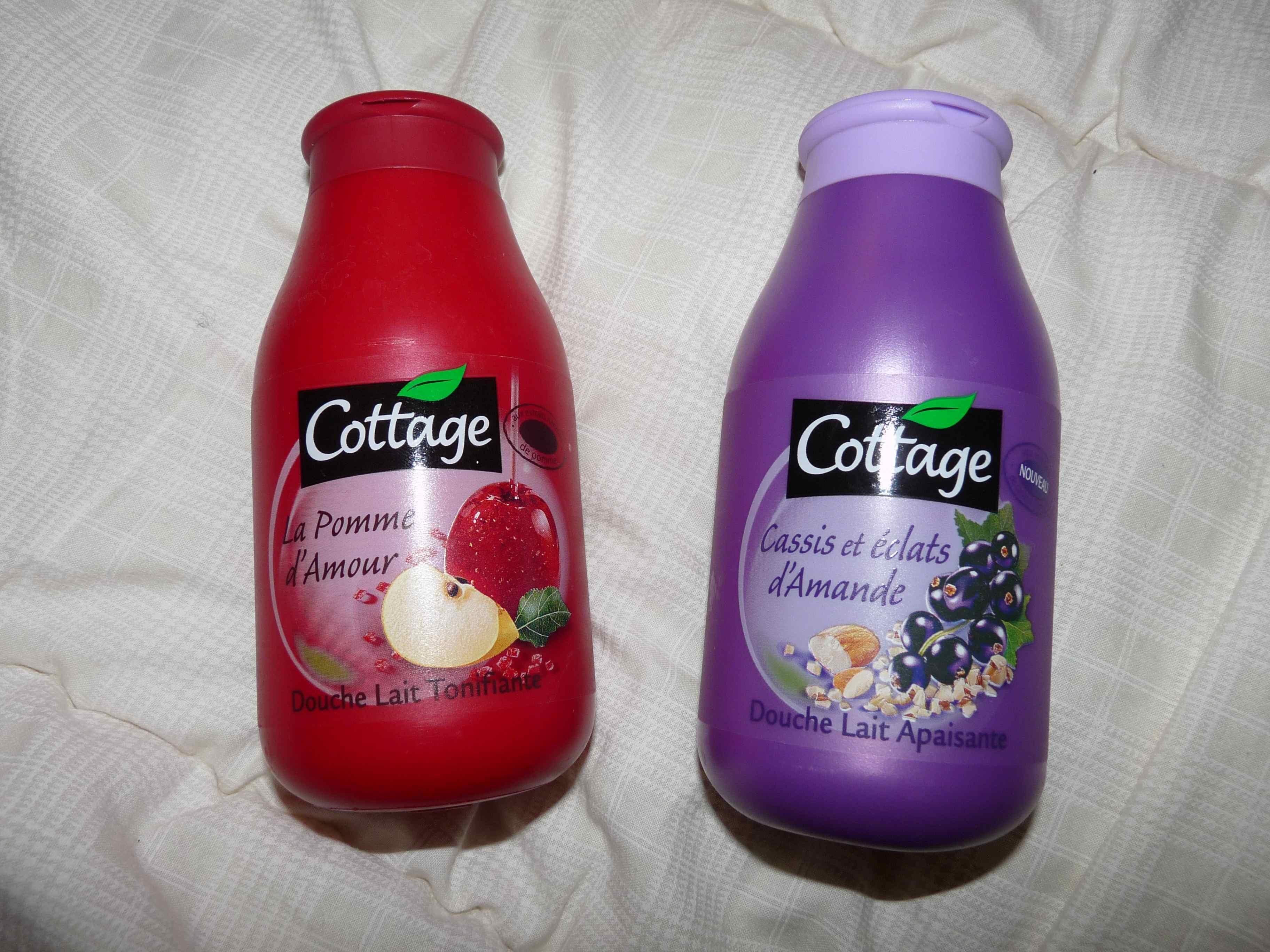 Cottage gel lait douche cassis éclats amande