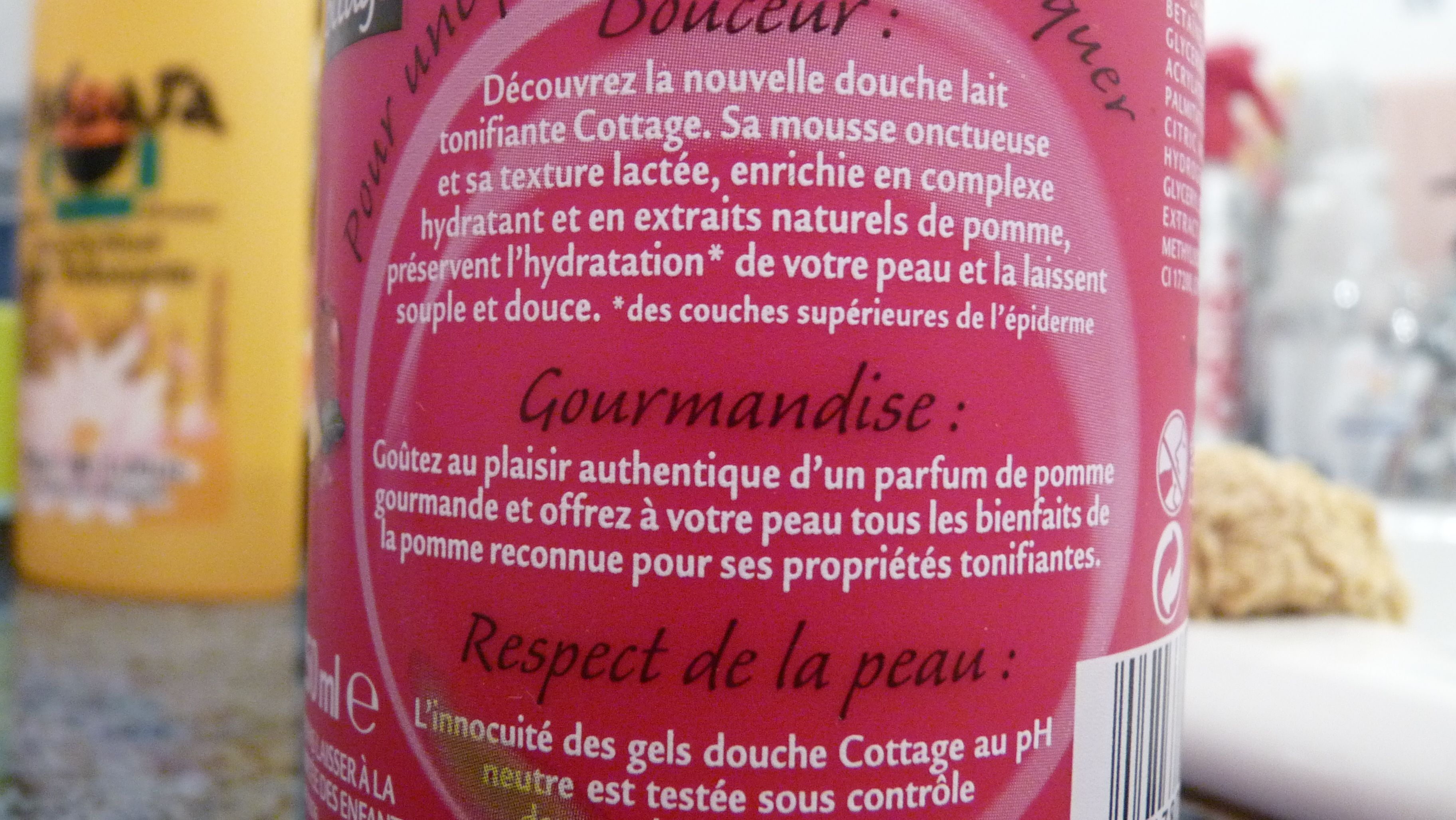 cottage gel douche pomme corps amour