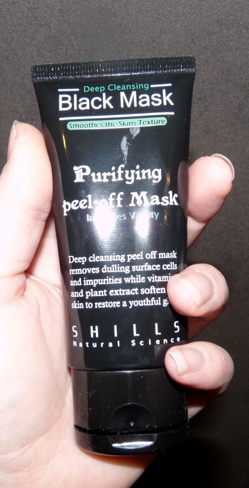 Shills black mask masque noir peel-off visage