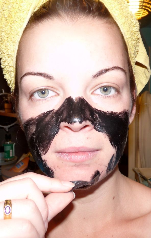 Shills black mask masque visage noir peel-off