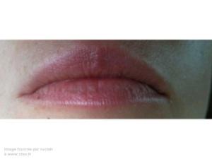 lèvres au bout de 5 minutes...