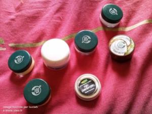 Bonus : tous les pots de mon sac à mains de pouffe