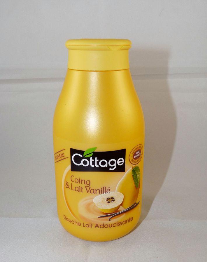 cottage gel lait douche coing vanillé