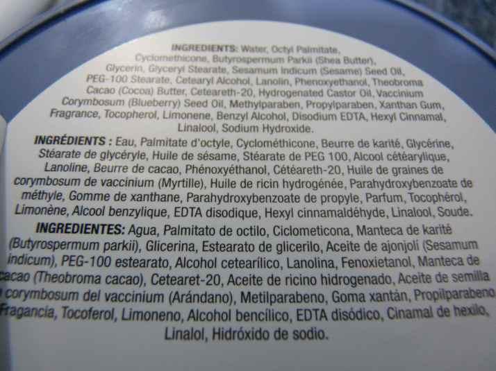 The body Shop beurre corporel myrtille