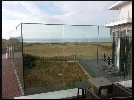 La vue depuis la terrasse du restaurant