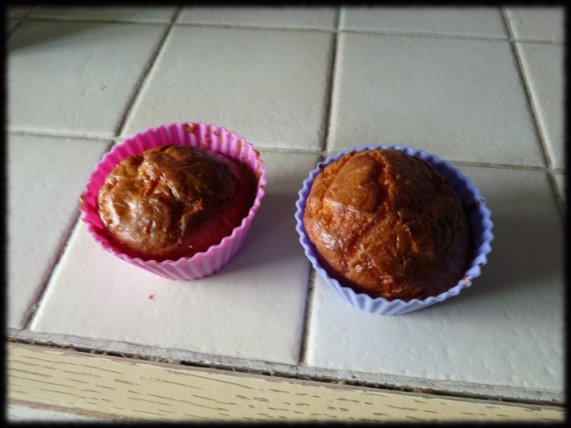 Les muffins tomate/mozza cuits !