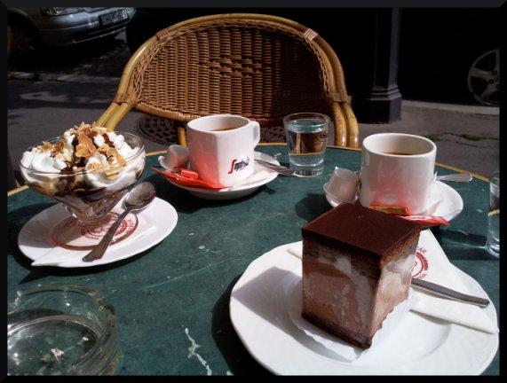 Au salon de thé BUDAVAR pour le goûter ^^
