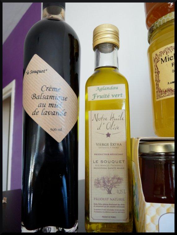 Une huile d'olive et une crème balsamique de lavande à tomber par terre.