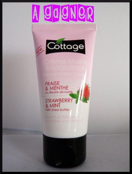 Le tube de crème pour les mains Fraise/Menthe au format 50 mL