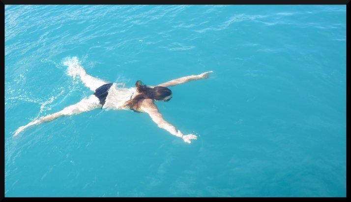 En plein mouvement de brasse.... je suis une étoile de mer :-/