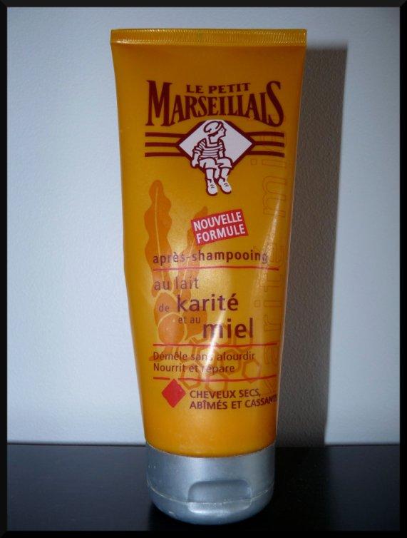 Petit Marseillais après-shampooing miel karité cheveux