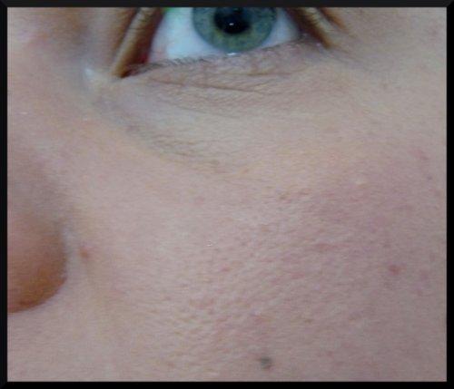 Zoom sur peau maquillée