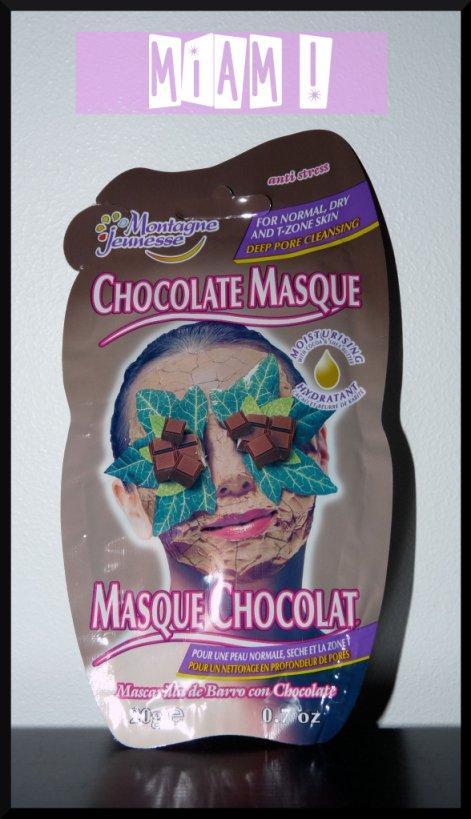 Montagne Jeunesse masque visage chocolat