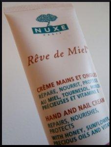 nuxe crème mains ongles rêve miel