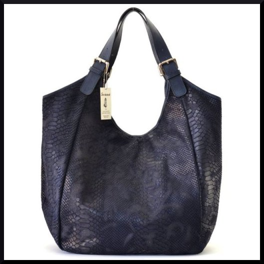 La Redoute - Sac en cuir façon serpent bleu foncé - 99,90€