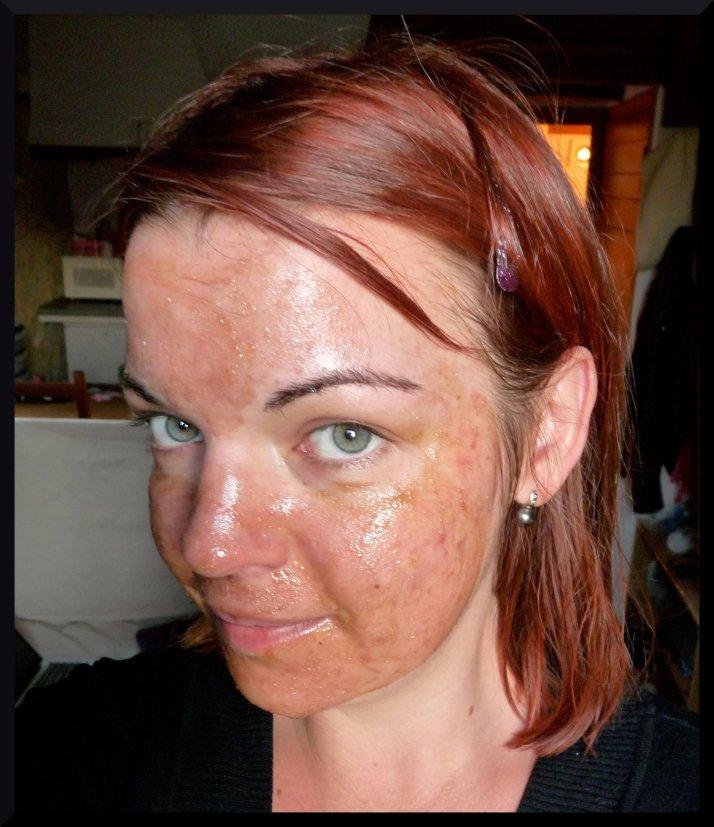 Mizon gommage visage miel sucre noir