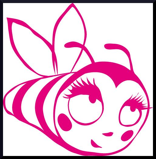 Je ne pouvais que l'aimer cette abeille : rose et rayée, comme mon blog !