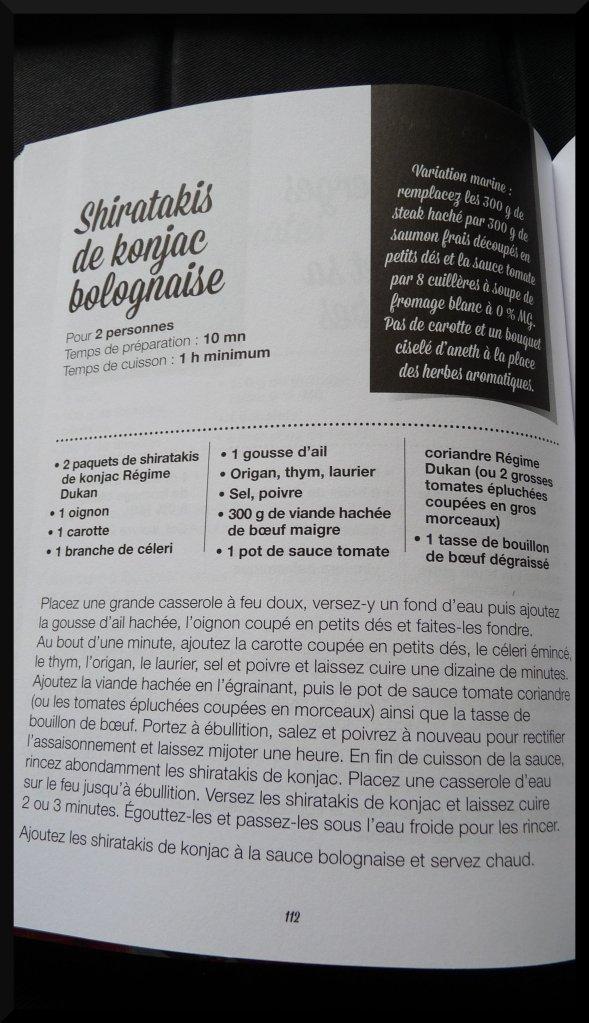 Dukan livre Escalier Nutritionnel le deuxième front Exemple de recette