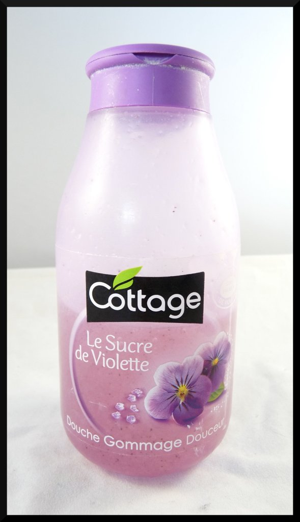 Cottage violette gommage douche corps sucre