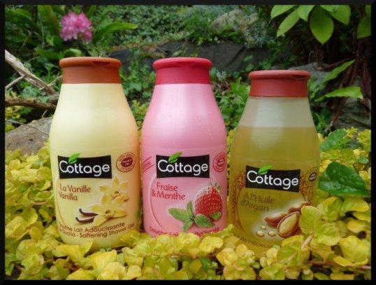3 parfums de gel douche Cottage