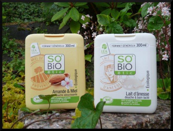 2 parfums de gels douche So'Bio Etic