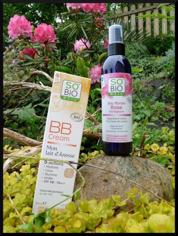 La BB crème au lait d'ânesse et l'eau florale de Rose Biologique de So'Bio Etic