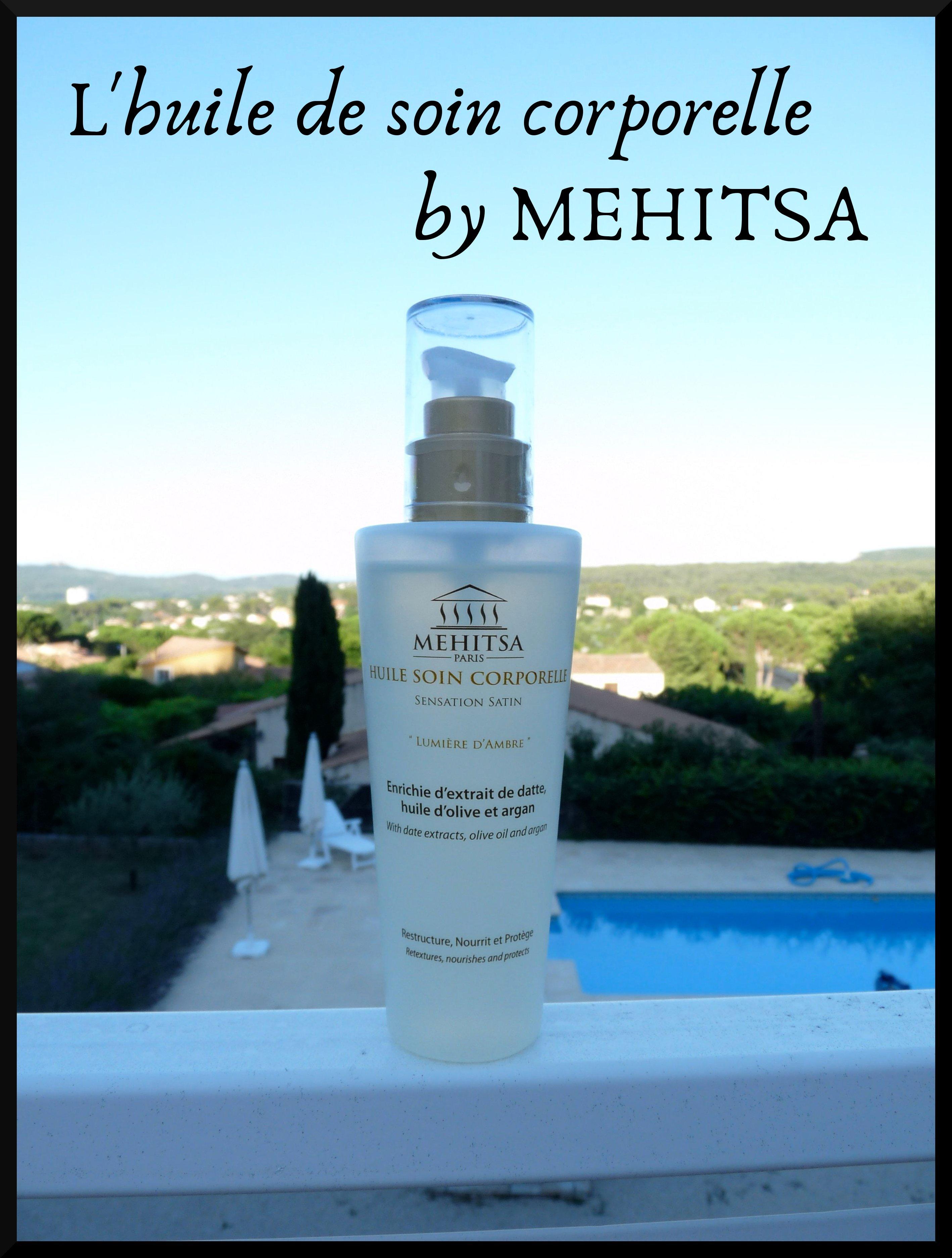 Mehitsa Paris huile soin corporelle lumière ambre datte argan olive