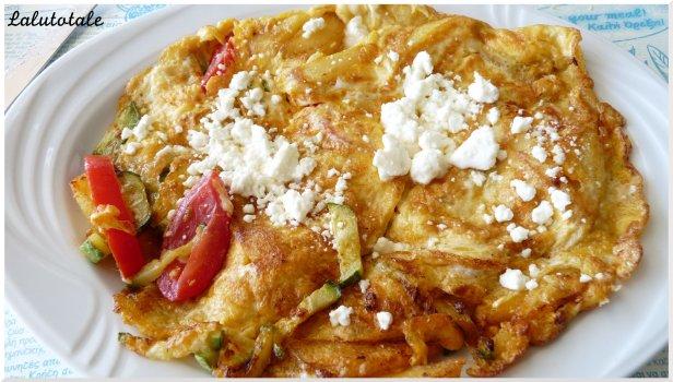 Mon omelette grecque. YUMMIE.
