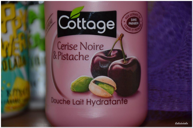cottage cerise noire pistache douche lait