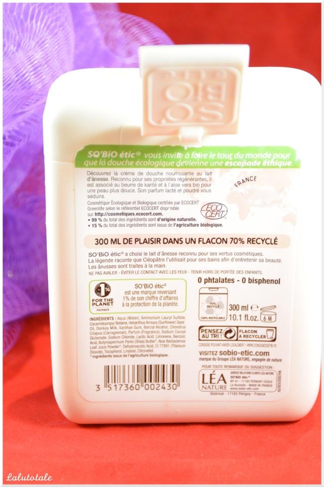 So'Bio Etic douche bain lait ânesse